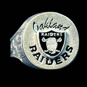 Oakland Raiders Shield Ring Size 10 - Click to enlarge