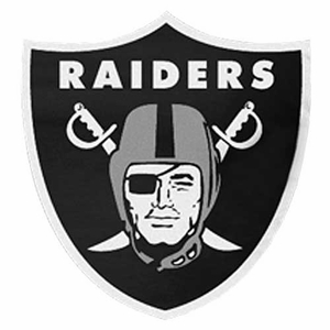 Oakland Raiders Shield Shaped Mouse Pad - Click to enlarge