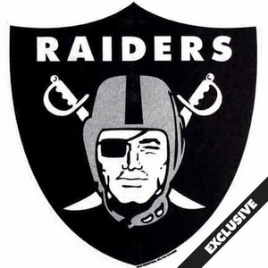 Oakland Raiders Shield Shaped Pennant - Click to enlarge