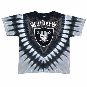 Oakland Raiders Shield V-Dye Tee - Click to enlarge
