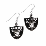 Oakland Raiders Shield Wire Dangle Earrings