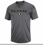 Oakland Raiders Short Yardage Grey Short Sleeve Tee
