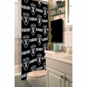 Oakland Raiders Shower Curtain - Click to enlarge