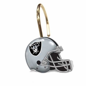 Oakland Raiders Shower Curtain Rings - Click to enlarge