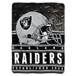Oakland Raiders Silk Touch Mink Sherpa Throw