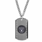 Oakland Raiders Silver Dog Tag 24 Inch