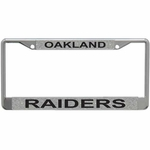 Oakland Raiders Silver Glitter License Frame