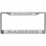 Oakland Raiders Silver Matte License Frame