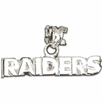 Oakland Raiders Silver Raiders Team Name Charm 3/16'