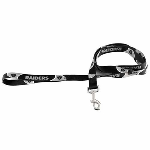 Oakland Raiders Six Foot Nylon Leash - Click to enlarge