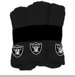 Oakland Raiders Six Pack Wash Cloth Set