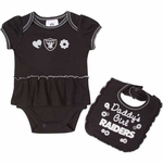 Oakland Raiders Ruffle Bodysuit with Bib
