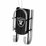 Oakland Raiders Sled Ornament
