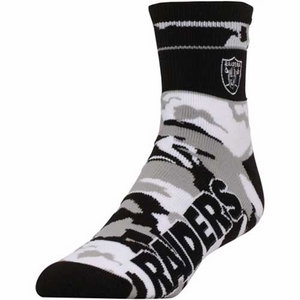 Oakland Raiders Snapback Band Camo Socks - Click to enlarge