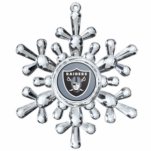 Oakland Raiders Snowflake Ornament - Click to enlarge