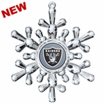 Oakland Raiders Snowflake Ornament