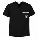 Oakland Raiders Solid Scrub Top