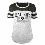 Oakland Raiders Space Dye Scoop Tee