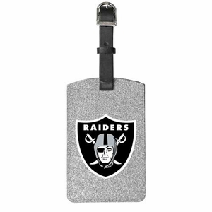 Oakland Raiders Sparkle Bag Tag - Click to enlarge