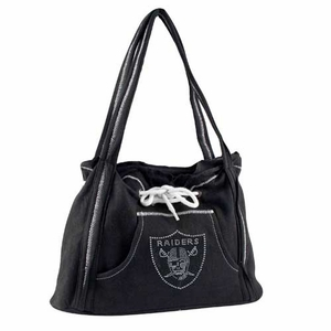 Oakland Raiders Sport Noir Hoodie Purse - Click to enlarge