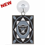 Oakland Raiders Stained Glass Ornament