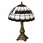 Oakland Raiders Stained Glass Table Lamp