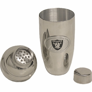 Oakland Raiders Stainless Cocktail Server - Click to enlarge