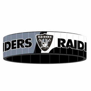 Oakland Raiders Stainless Steel Bracelet - Click to enlarge