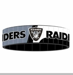 Oakland Raiders Stainless Steel Bracelet