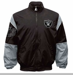 Oakland Raiders Starter Black Gust Jacket
