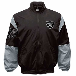 Oakland Raiders Starter Black Gust Jacket - Click to enlarge