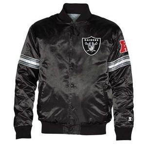 Oakland Raiders Starter Black Satin Jacket - Click to enlarge