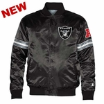 Oakland Raiders Starter Black Satin Jacket