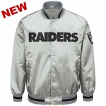 Raiders Starter Closer Grey Satin Jacket