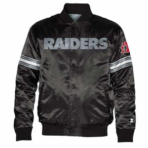 Oakland Raiders Starter Satin Jacket - Click to enlarge