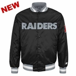 Oakland Raiders Starter Satin Wordmark Jacket