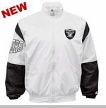 Oakland Raiders Starter White Gust Jacket