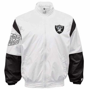 Oakland Raiders Starter White Gust Jacket - Click to enlarge
