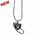 Oakland Raiders State Charm Necklace