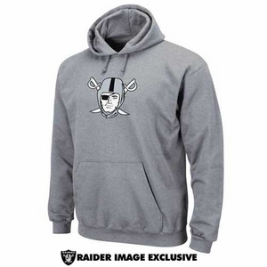 Oakland Raiders Steel Pirate Logo Tech Fleece - Click to enlarge