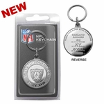 Oakland Raiders Steel Super Bowl Medallion Keychian