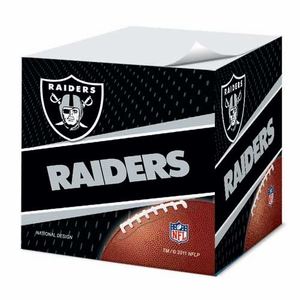 Oakland Raiders Sticky Note Cube - Click to enlarge