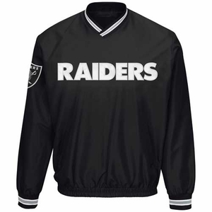 Oakland Raiders Stop & Go Pullover Jacket - Click to enlarge
