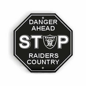 Oakland Raiders Stop Sign - Click to enlarge