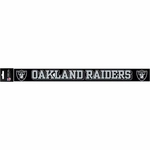 Oakland Raiders Strip Color Letters Die Cut Decal