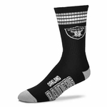 Oakland Raiders Stripe Socks