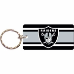 Oakland Raiders Stripe Square Keychain