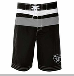 Oakland Raiders Stripe Swim Trunks