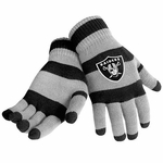 Oakland Raiders Striped Knit Gloves