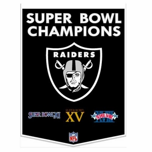 Oakland Raiders Super Bowl Dynasty Banner - Click to enlarge